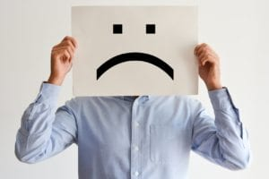 Unhappy salesman